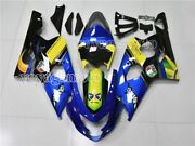 Blue Yellow Black Abs Injection Fairing Kit Fit For 2004 2005 Gsxr600 Gsxr750 K4