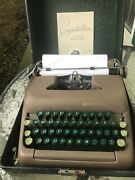 Smith-corona Sterling Typewriter W/case And Ribbon. Cleaned. With Manual And Key