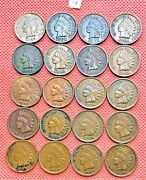 1899-1907 Indian Head Cents, Penny, 20 High Grade Coins 4