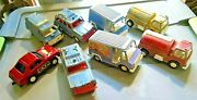 8 Vintage Tootsie Toy Trucks And Exp Car 1970s Barn Find Shape