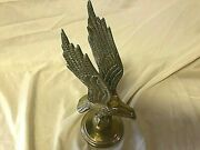 Vintage Cast Brass Flying Eagle Table Top Statue Lot 522