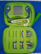Leapster 2 And Leapfrog Pen, 3 Games With Green Case