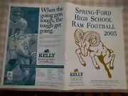 Spring-ford High School Trappe Pa Ram Football Yearbook 2005 Softcover 63 Pages