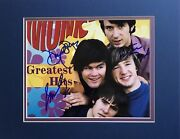 The Monkees Autographed Photo Signed By Davy Jones Micky Dolenz And Peter Tork