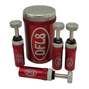 Dfl8 Automatic Tyre Deflators - Red - Australian Made - 5 To 35psi - 4 Pack