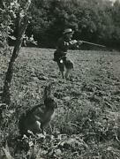 C. 1950 Maurice Baquet Cellist Hunting Rabbits Photo By Robert Doisneau