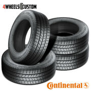 4 X New Continental Vancontact Winter 235/65r16r10 121/119r Tires