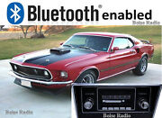 Slidebar Radio Stereo And Bluetooth Kit 1967-1973 Ford Mustang By Custom Autosound