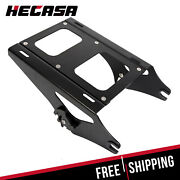Black Detachable Two Up Tour Pack Mounting Rack For Harley Touring 2014-2021