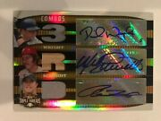 2006 Topps Triple Threads - Mike Schmidt David Wright Hill Auto Patch 7/9 Gold