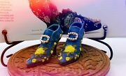 Vintage Collectable Beautiful Miniature Pair Of Shoes Ornaments Figurines