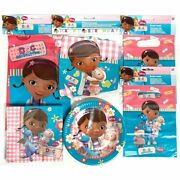 Doc Mcstuffins Party Pack For 8 People - Tableware Party Bags And Banner