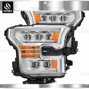 Fit 17-20 Ford F150 Raptor Nova Projector Headlights W/ Sequential Signal Black