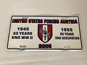 United States Forces Austria Vanity License Plate 2005 50 Years Occupation Wwii