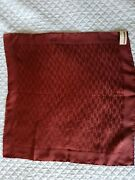 New, Hermes, Logo, Pocket Square, With Tags, Rouge Brique, Red Brick, Silk