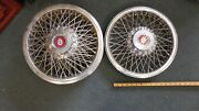 1970and039s 1980and039s Oldsmobile Crest 14 Wire Spoke Hubcaps Vintage