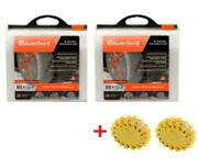 Autosock Hd Al84 2 Sets Snow Sock Set W/ 2 Rechargeable Emergency Safety Flare