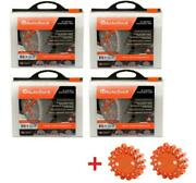 Autosock Hd Al89 4 Sets Snow Sock Set With 2 Emergency Safety Flare
