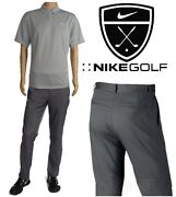 Nike Golf Performance Flat Front Pants/polo Shirt Menand039s Large L 36x32 New+tags
