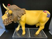Cow Parade Cowardly Lion 2001 Rare And Retired 7244