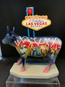 Cow Parade Welcome To Fabulous Las Vegas 2002 Rare And Retired 7326