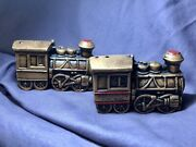 Huckleberry Railroad Michigan Collectible Train Salt And Pepper Shakers Japan