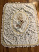 Child Baby Quilt Boy Precious Moments Jesus Loves Me Teddy Bear 36 X 46