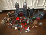 Playmobil Knights Castles Tower Cannon Catapult Cross Bows Huge Lot