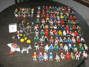 Huge Lot 140 + Playmobil Geobra Action Figures People Animals And Accessories