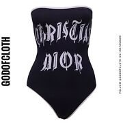 Dior One-piece Tube Swimsuit