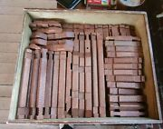 217 Vintage 1930s-40s Halsam Toy American Logs Set- Org Wooden Box- Plus Extras