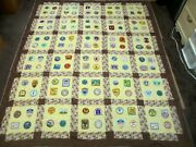 Vintage Bsa Boy Scouts Of America Hanging Wall Patches Quilt 88 X 76 - 1970s