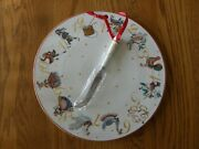 Williams Sonoma 12 Days Of Christmas Cheese Board With Knife-new