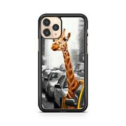 Cool Spotted Giraffe Animal Popping Head Out Of Car Window Fine Phone Case Cover
