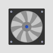 Fba12g24h Nmb-mat Panaflo Nmb-mat Minebea Fan Dc 24v .3a 119mm By 38mm 2wire 6in