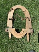 Antique Oxen Cow Sheep Yoke Iron Hardware Large Solid Piece Extremely Rare 20andrdquo