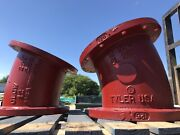 Lot Of Two 12andrdquo Flange 22-1/2 Degree Bend Fitting Clow And Tyler Usa Ductile Iron