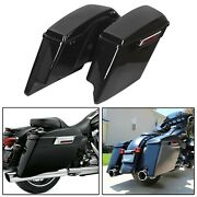 5 Stretched Extended Hard Saddle Bags For Harley Touring Road King 1993-2013