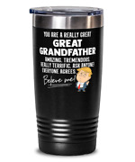 Funny Great Grandfather Gift Trump Tumbler Mug Stainless Vacuum Insulated Black