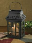New Primitive Country Farmhouse Love Home Family Friends Candle Lantern