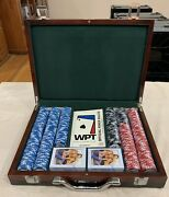 Custom World Poker Tour Poker Chips And Cards Case. Rare The Wb Tv Show Related.