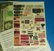 Ho 187 Railroad Train Clear Waterslide Decals Building Signs Farmall Tractor