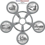 2005 50 State Quarter Coin Carousel - Includes The 5 2005 U.s. Mint Quarters