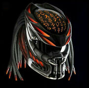 Free Shipping Awesome Orange Fire Predator Helmet Dot Ece With 3 Lasers