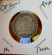 1834 Bust Quarter Extremely Rare Full Liberty Toned Wow Coin Au+ Original