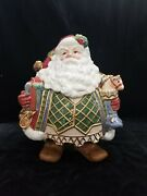 Fitz And Floyd Santa St. Nick Cookie Jar Christmas Appx 13 Tall 10 Wide 2003