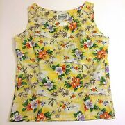 Hibiscus Outrigger Tank Top Cheeseburger Brand Women's Med. Sleeveless With Tag
