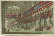 Antique Print Of A Chinese Temple C.1750