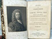 Diary And Correspondence Of Samuel Pepys 4 Volumes 1854 W/ Fold Out Map