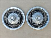 American Motors Wire Spoke Hubcap Wheelcover Center Cap Pair Amc Free Shipping